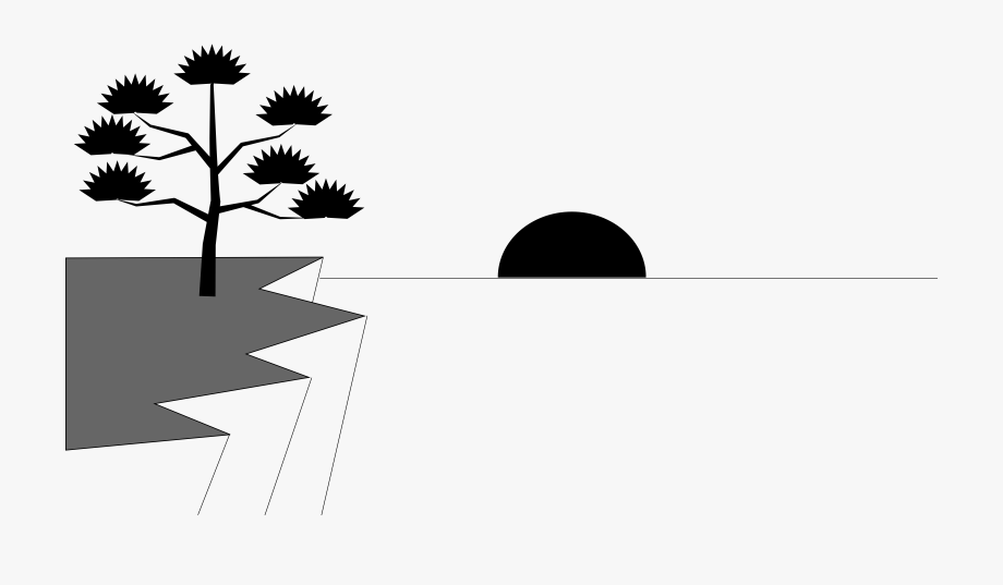 Sunset Water Clipart Black And White.