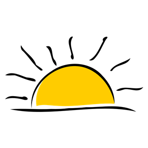 Free sunset clipart images.