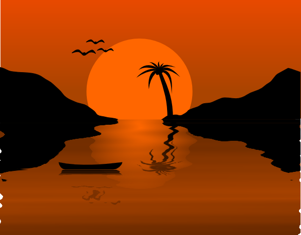 Sunset Scalable Vector Graphics Clip art.