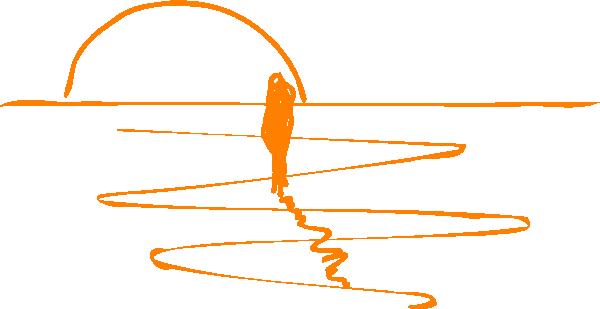 Orange Sunset Sketch Version SVG Downloads.