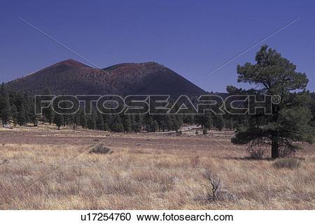 Stock Photography of Flagstaff, AZ, Arizona, Sunset Crater Volcano.