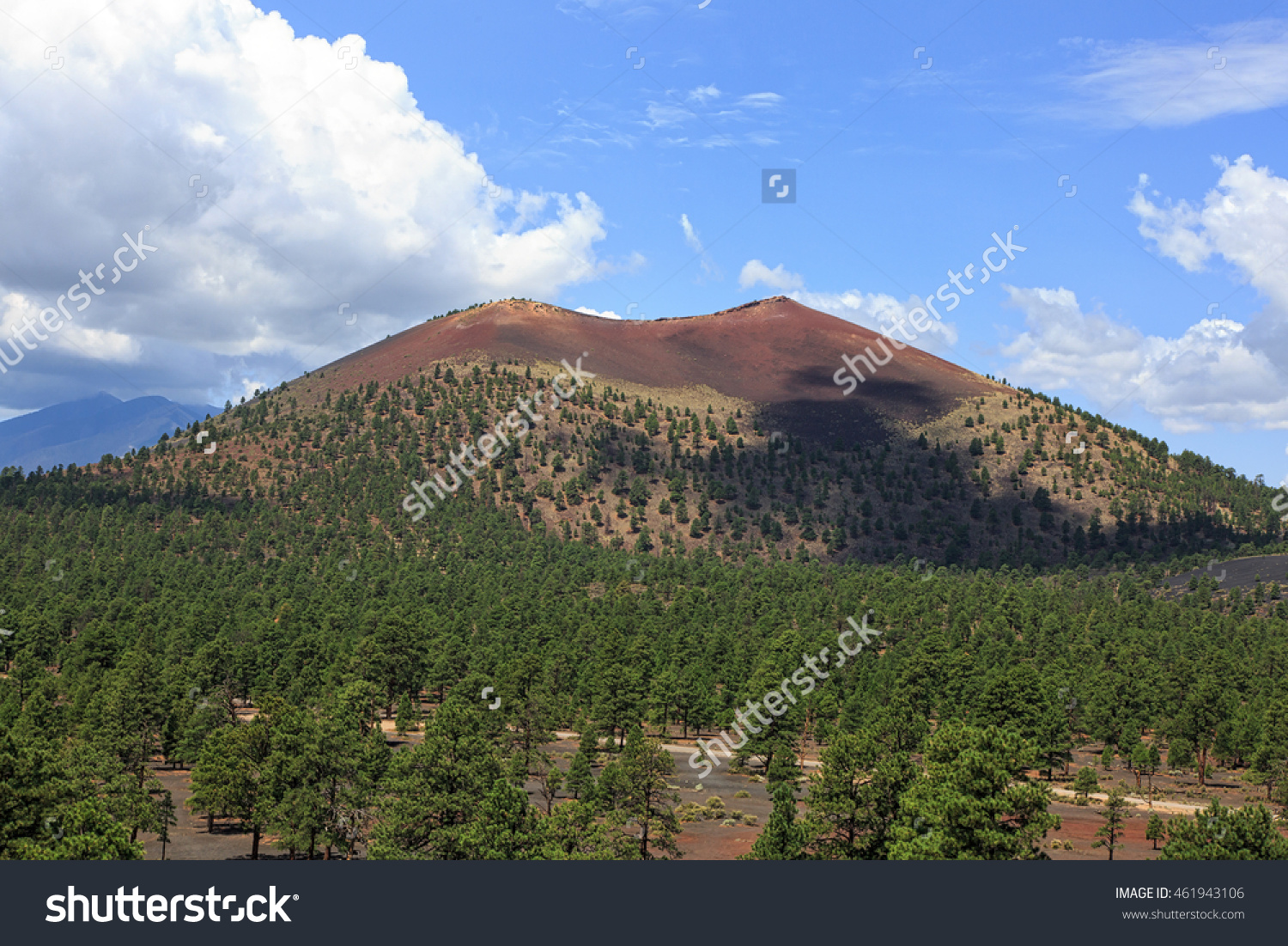 Sunset Crater, A Cinder Cone Volcano Located North Of Flagstaff.