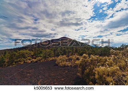 Stock Photo of Sunset Crater National Monument, Arizona, USA.