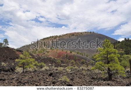 Sunset Crater Stock Photos, Royalty.