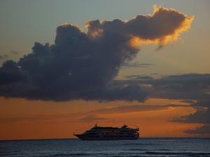 Cruise Ship Photo Clipart Image.