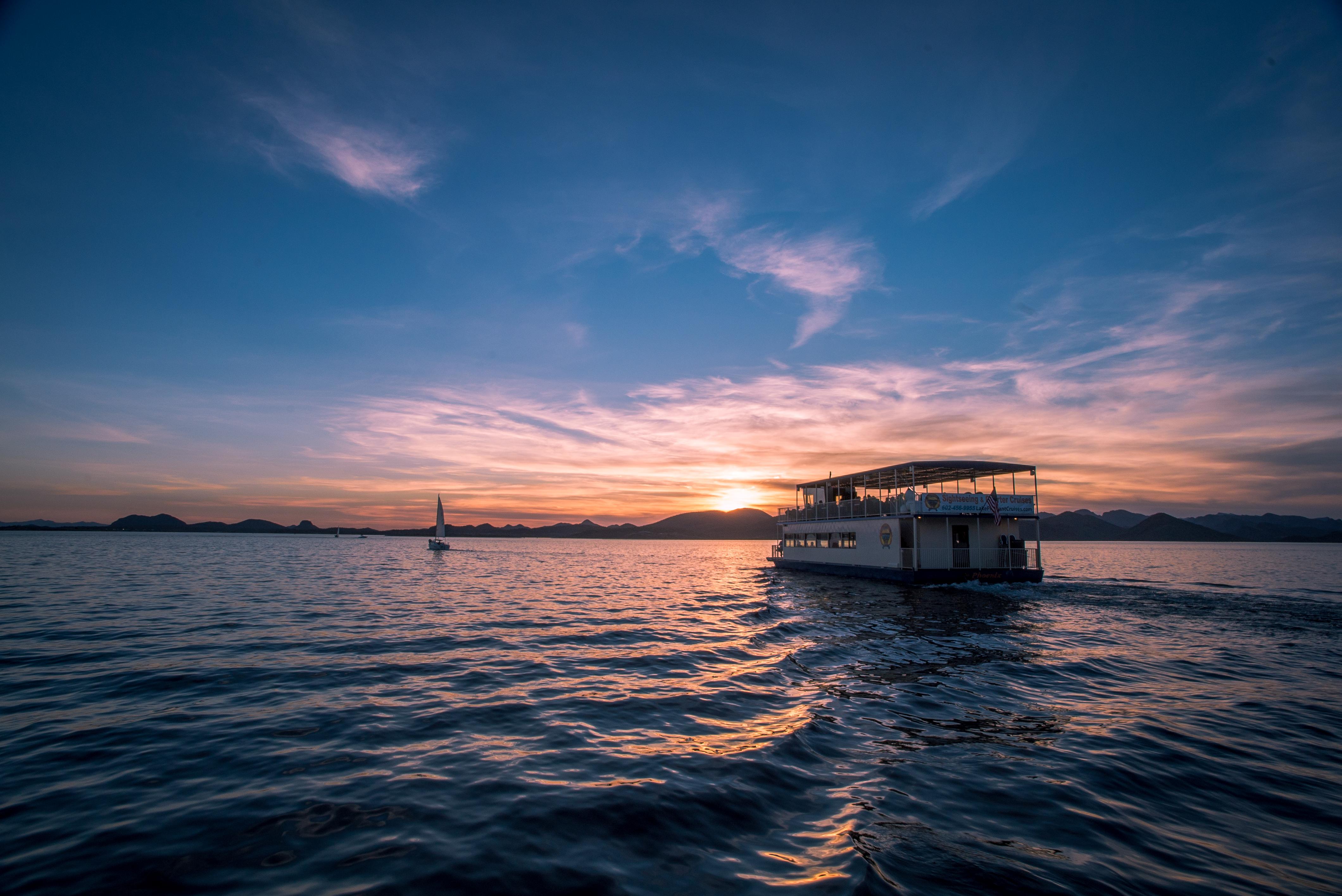 Sunset casino cruise.