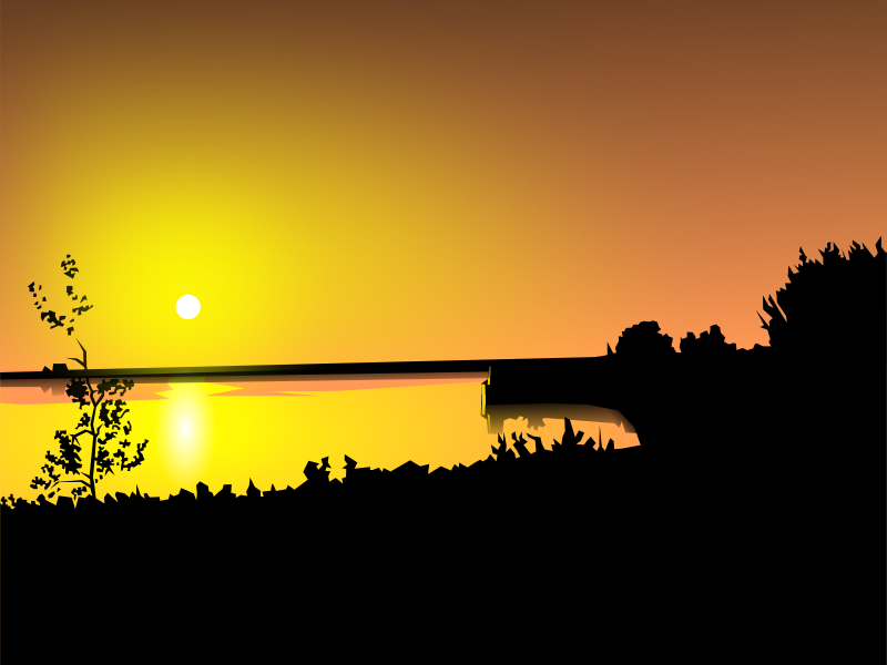 Free Clipart: Sunset.