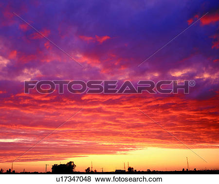 Pictures of red, clouds, sunset glow, sky, skies, rosy clouds.