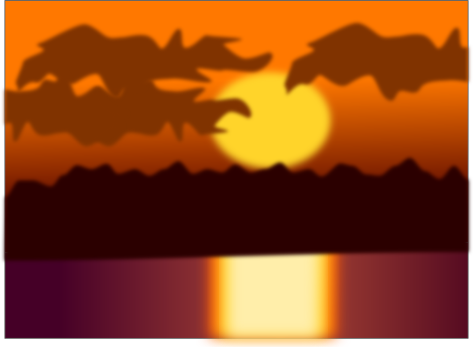 Free vector graphic: Sunset, Sunset Glow, Clouds, River.
