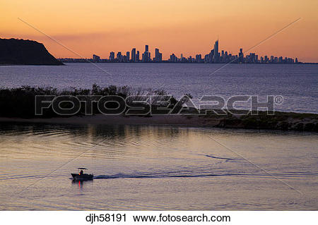 Stock Photography of Australia, Queensland, Gold Coast, Surfers.