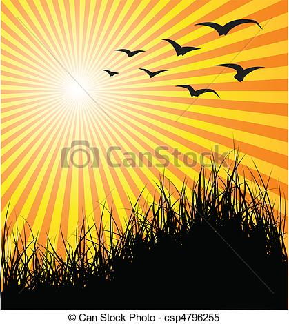 Clipart Vector of Summer vector background.