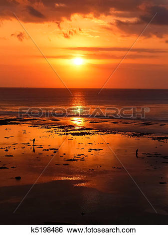 Stock Images of Bali sunset k5198486.