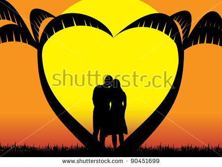 Lovers Beach Stock Images, Royalty.