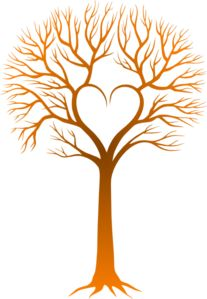 Sunset Love Tree clip art.