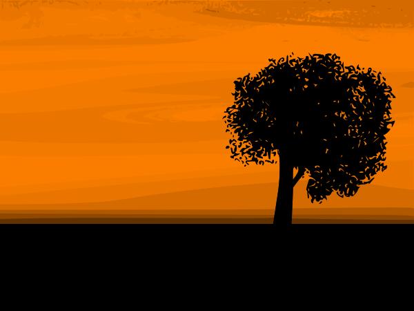 Night Sunset Clipart.