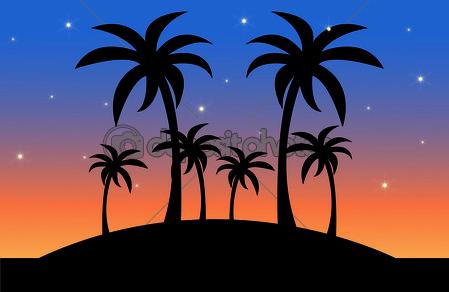 Sunset Scene Clipart.