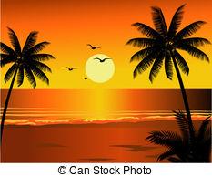 Sunset beach Clipart Vector Graphics. 16,358 Sunset beach.