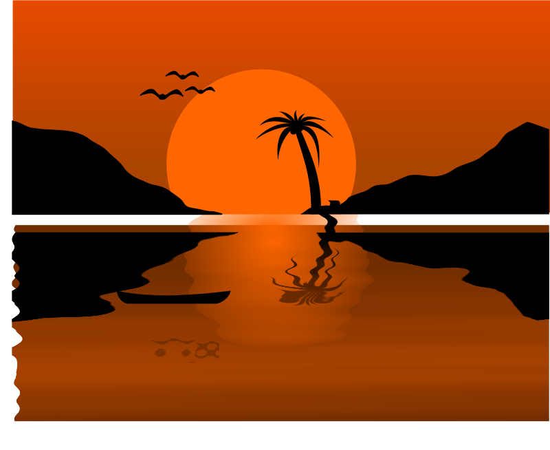 Free Clipart: Sunset Waterscene.