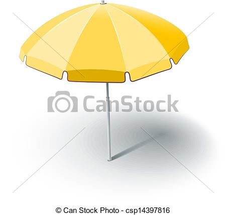 Vector Clip Art of beach sunshade vector illustration isolated on.