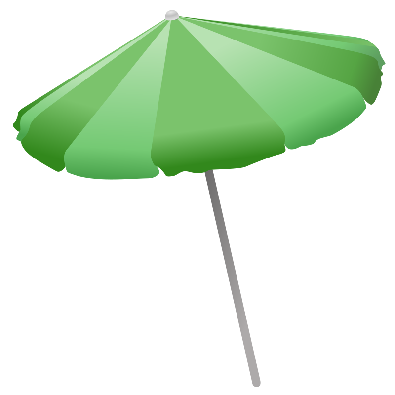 Cartoon Beach Umbrella.