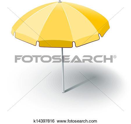 Clip Art of beach sunshade k14397816.
