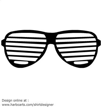80s Sunglasses Clip Art.