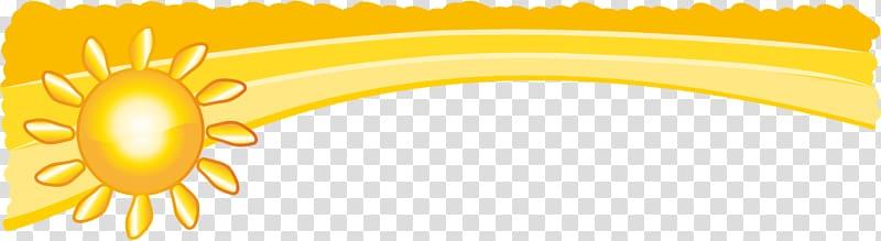 Sun border, Cartoon Yellow Illustration, Golden Sunshine.