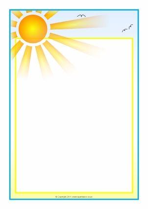 Sunshine border printable template.