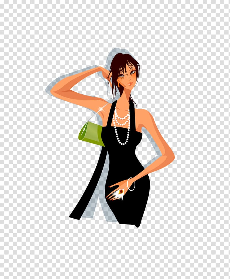 Fashion Euclidean Illustration, sunshine girl transparent.