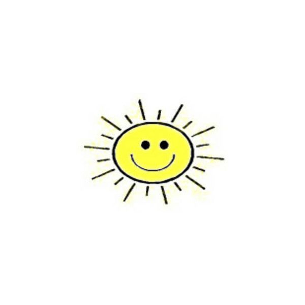 Free Clipart Picture of Smiley Face Sun ❤ liked on Polyvore.