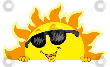 Cute Sun With Sunglasses Clipart.