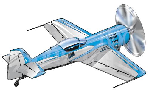 Stunt Plane Clipart.