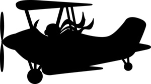 Airplane Clipart Image.