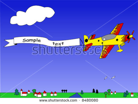 Plane Flag Stock Images, Royalty.