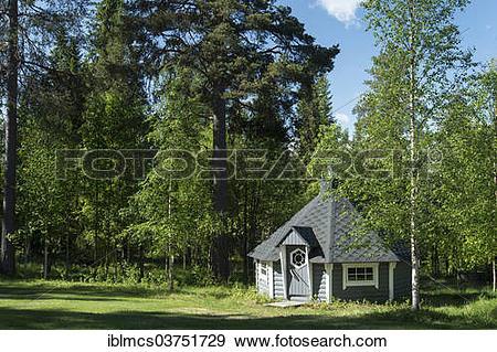 "Stock Photograph of ""Finnish Sauna, Martinselkosen, Suomussalmi."