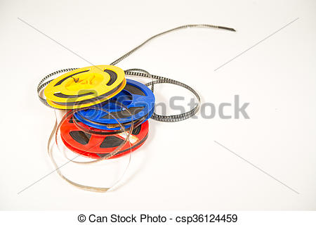 Stock Images of Super 8 film in two colored bobbins csp36124459.