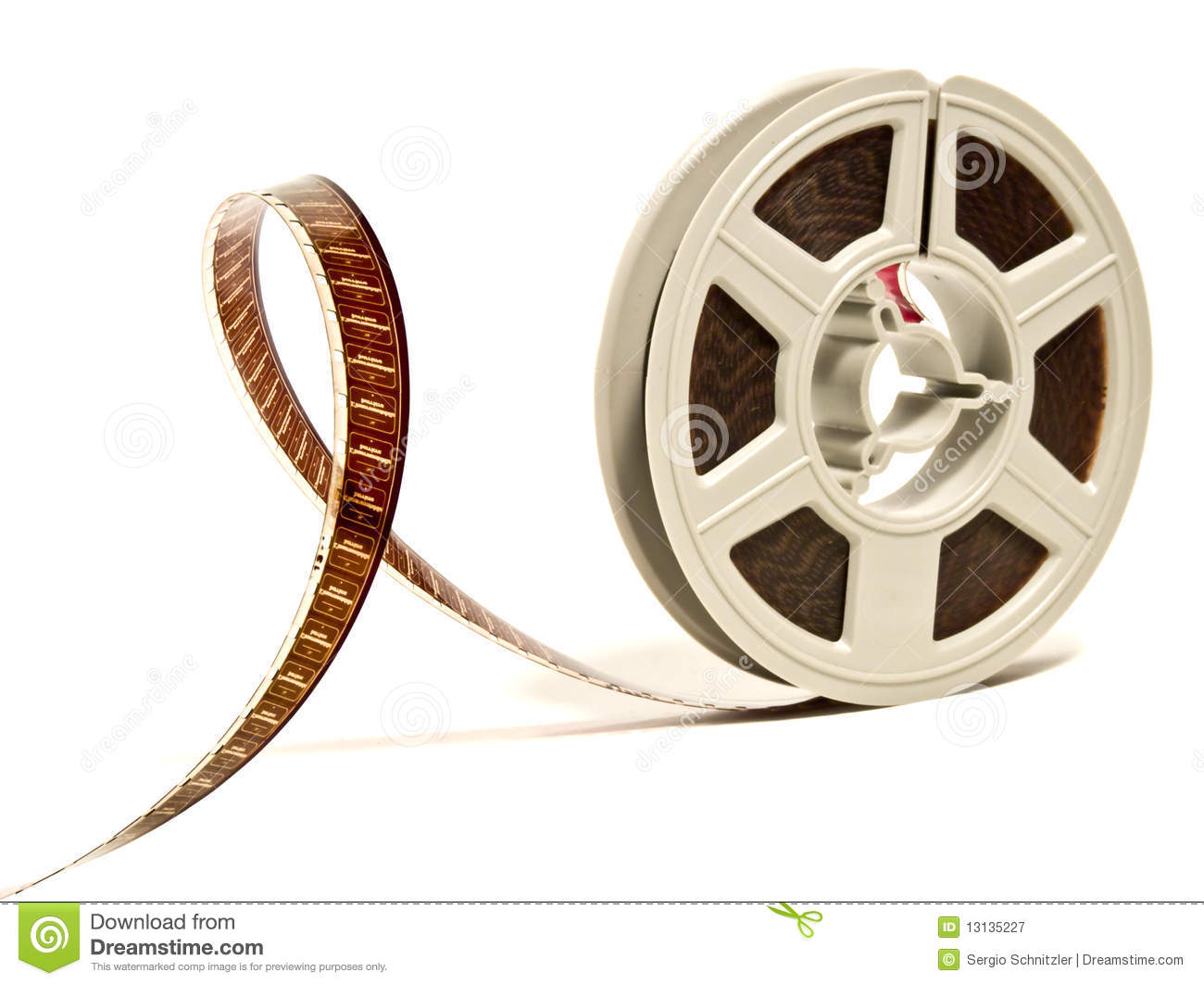 Movie reel clipart color.