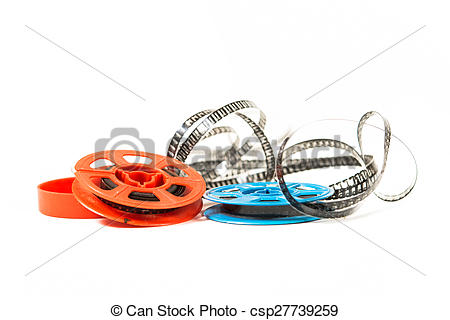 Stock Images of Super 8 film in two colored bobbins csp27739259.
