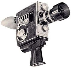 Old school movie camera.