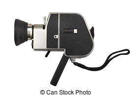 Stock Photography of Vintage Super 8 Film Camera.