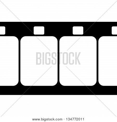 Vector Super 8 Film Strip Illustration on White Background.