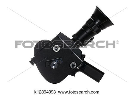 Stock Photo of Super 8 film camera isolated on white k12894093.