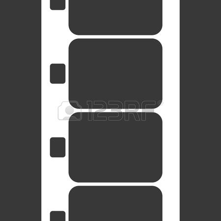 Vector Super 8 Film Strip Illustration On Black Background.