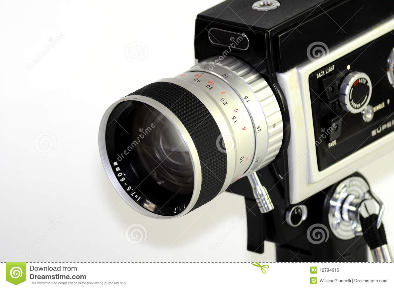Super 8 Film Camera Stock Photo.