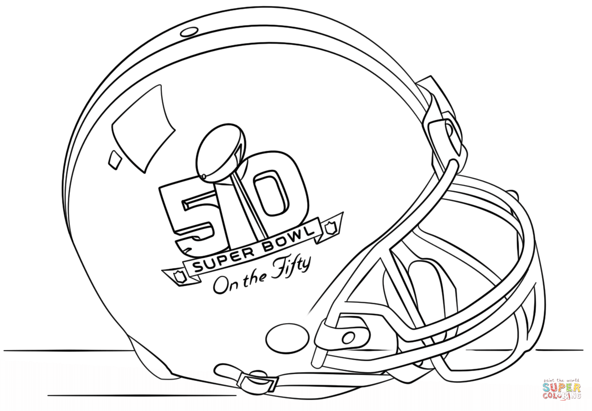 Free Coloring Pages Super Bowl.