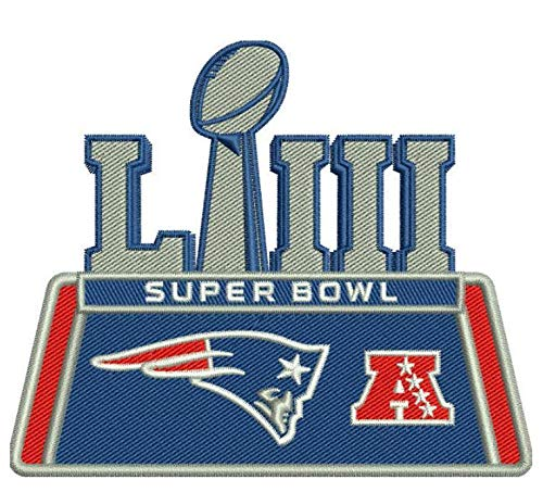 Football 2019 Super Bowl 53 LIII Patch Patriots AFC Champs.