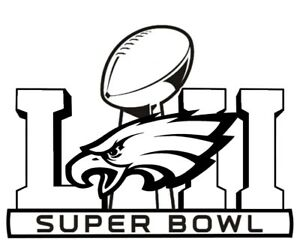 Details about Vinyl Decal Truck Car Sticker Laptop NFL Super Bowl LII 52  Philadelphia Eagles.