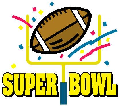 2016 Super Bowl Sunday Clipart.