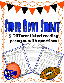 Super Bowl Differentiated Reading Passages *Freebie!*.