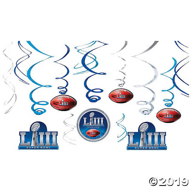 NFL® Super Bowl LIII Hanging Swirls.